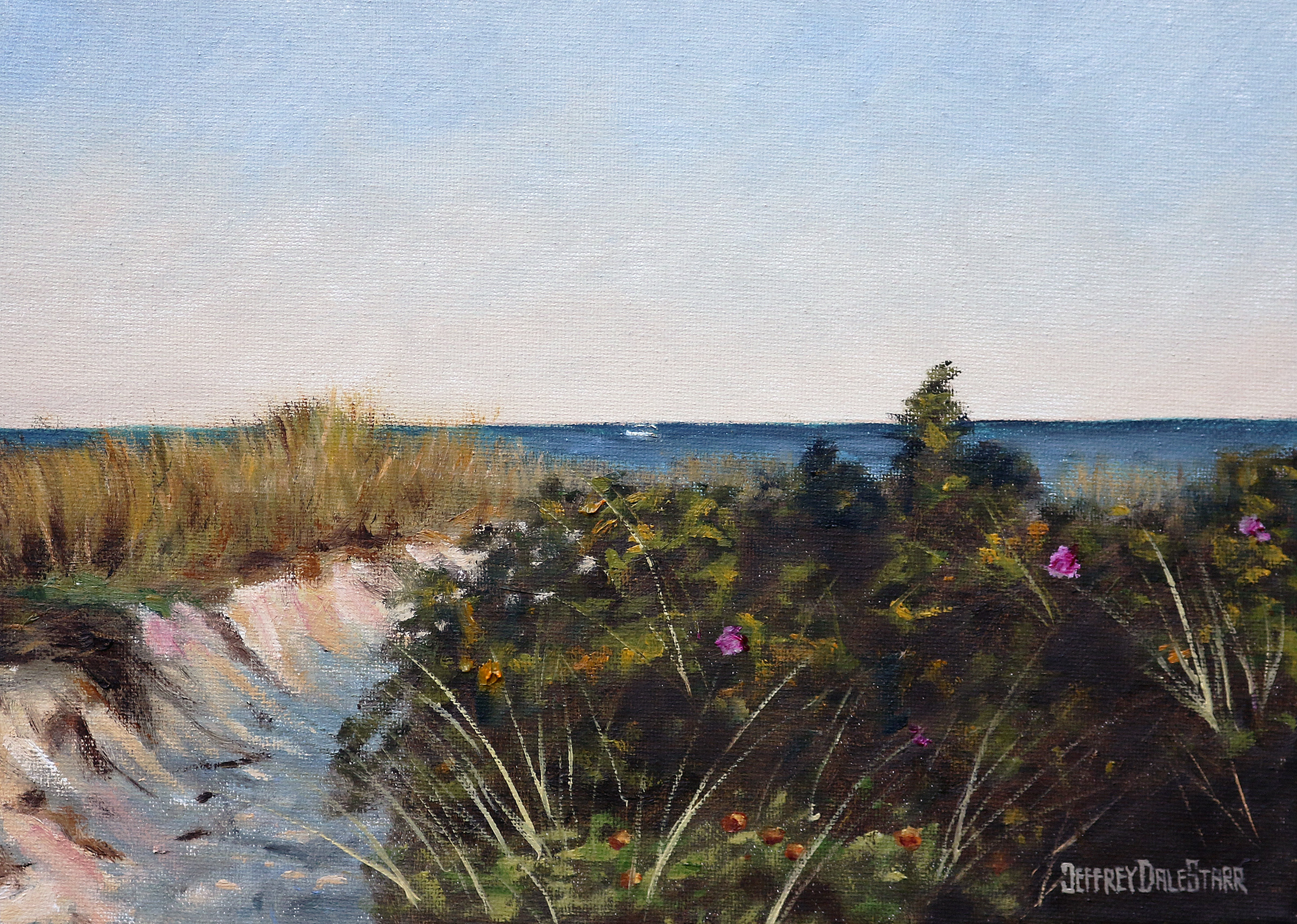"Oil painting ""Entering Dowses Beach"" by Jeffrey Dale Starr"