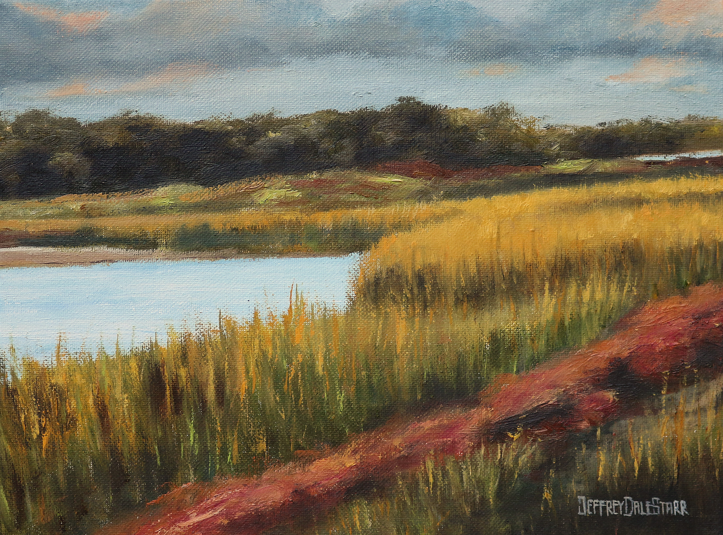 "Oil painting ""Grasses of Dowses Beach"" by Jeffrey Dale Starr"