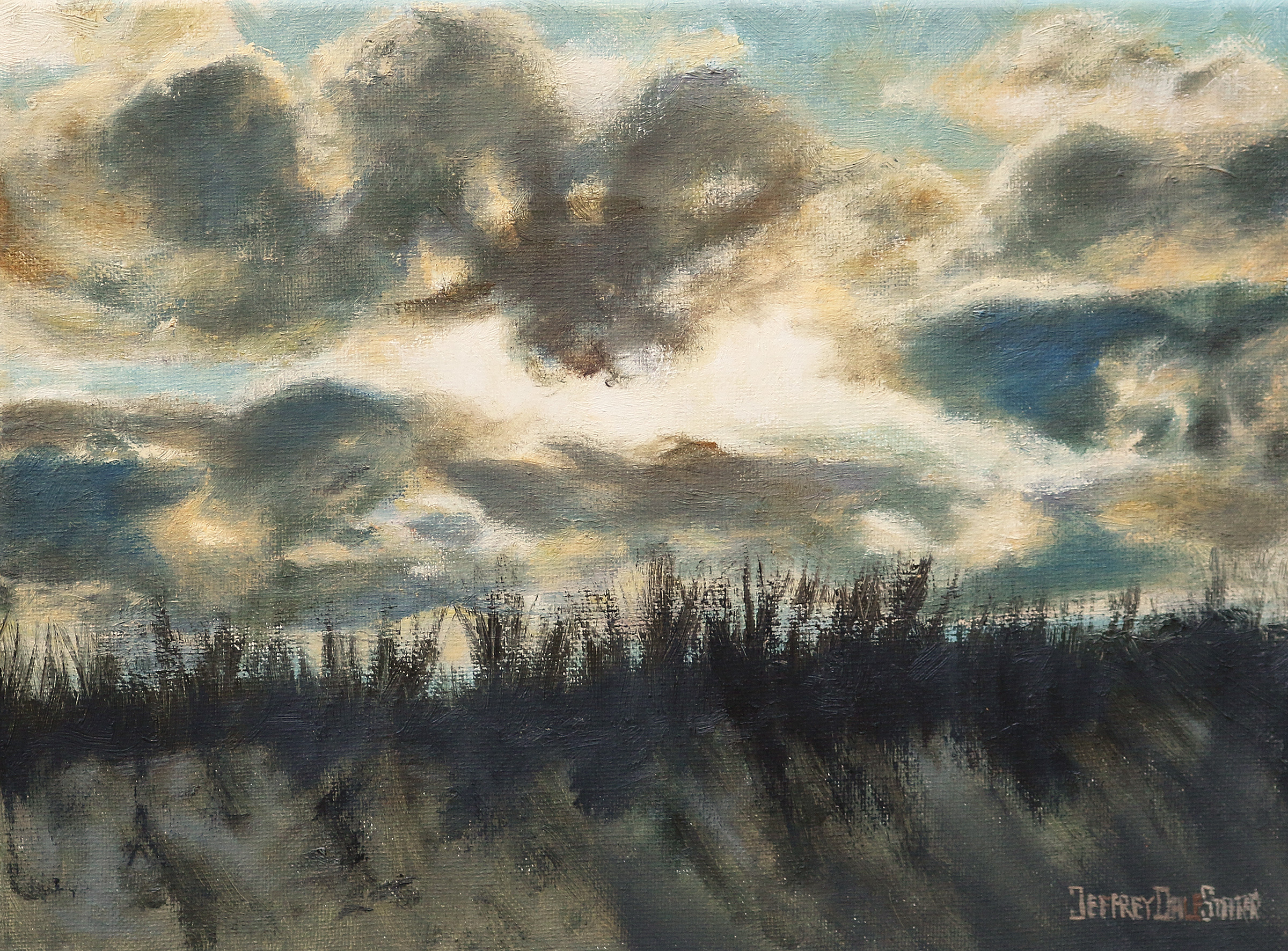 "Oil painting ""Majestic Sky Over Dowses Beach"" by Jeffrey Dale Starr"
