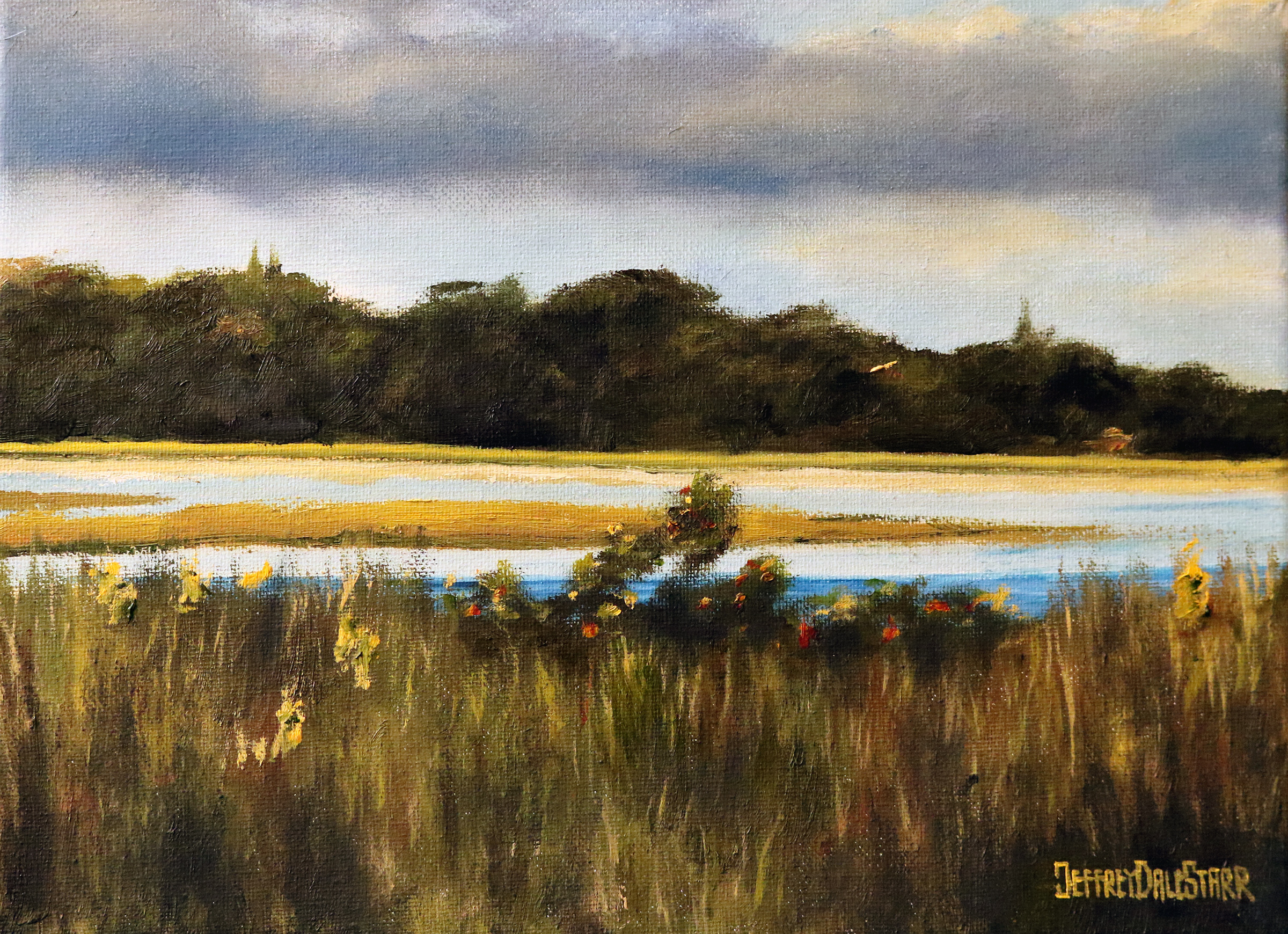 "Oil painting ""Grassy Trail on a Cape Cod Beach"" by Jeffrey Dale Starr"