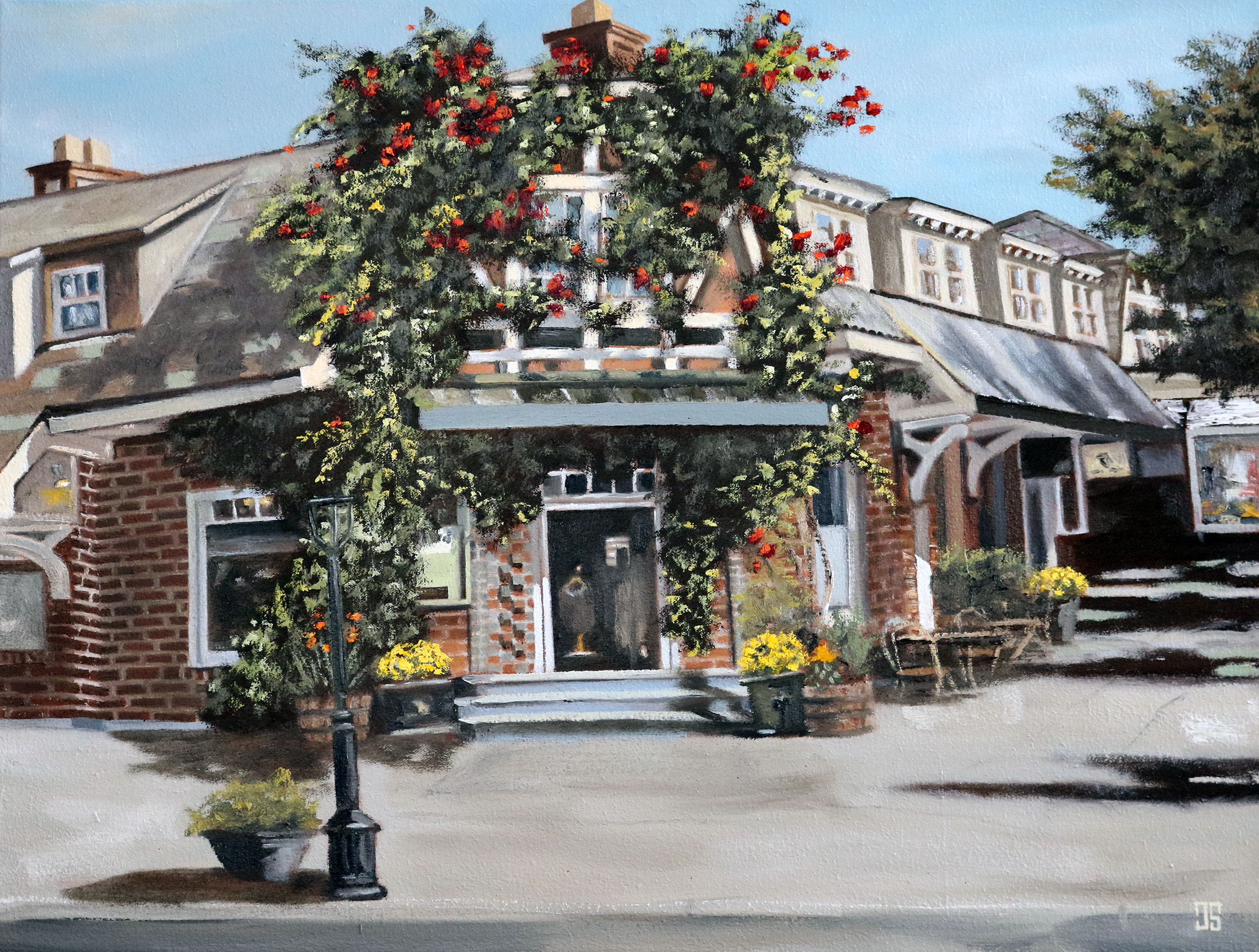 "Oil painting ""Brick Block, Chatham"" by Jeffrey Dale Starr"
