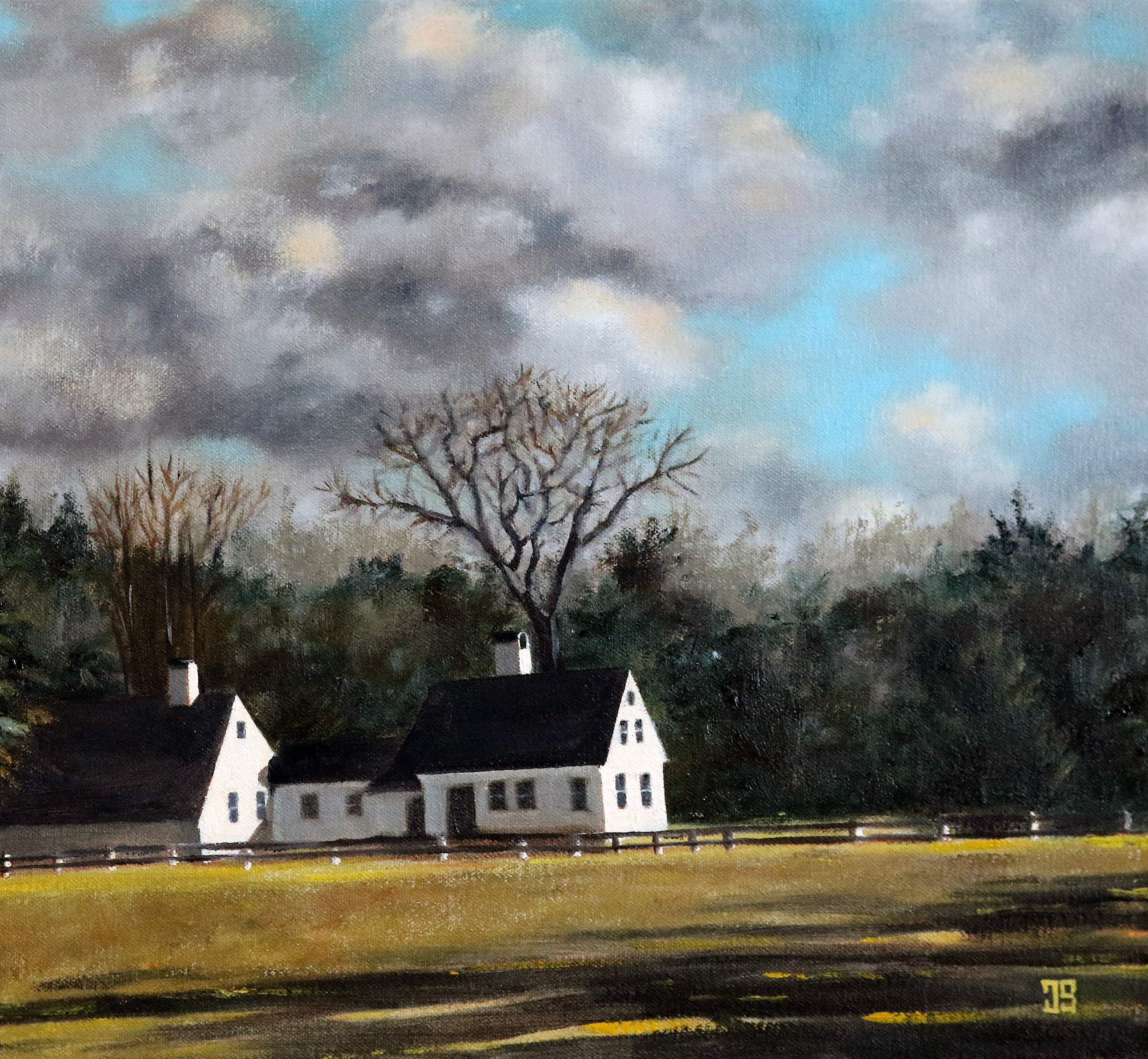 "Oil painting ""Burgess House, Marstons Mills"" by Jeffrey Dale Starr"