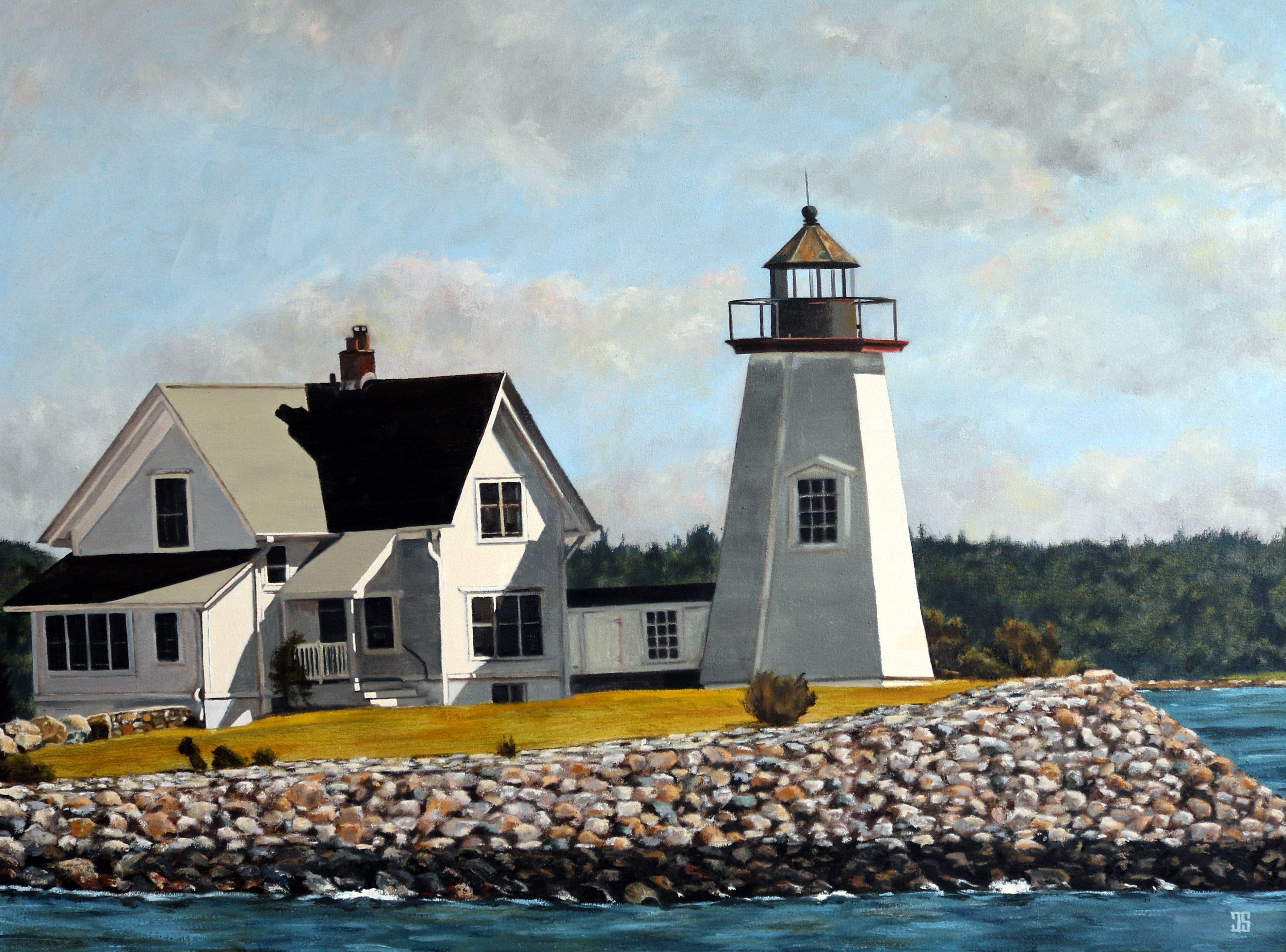 Wings Neck Lighthouse by Jeffrey Dale Starr