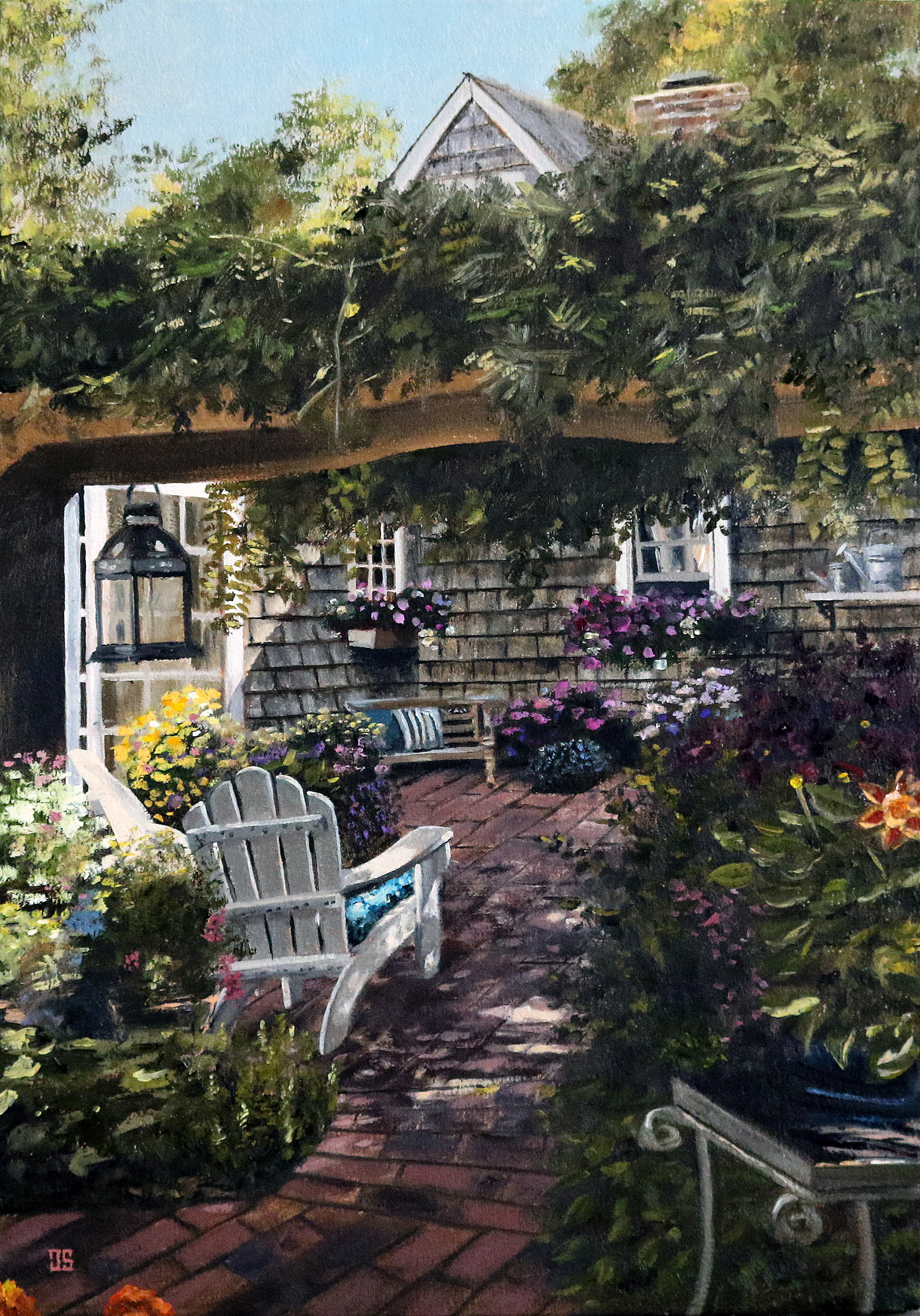 "Oil painting ""Marc's Backyard"" by Jeffrey Dale Starr"