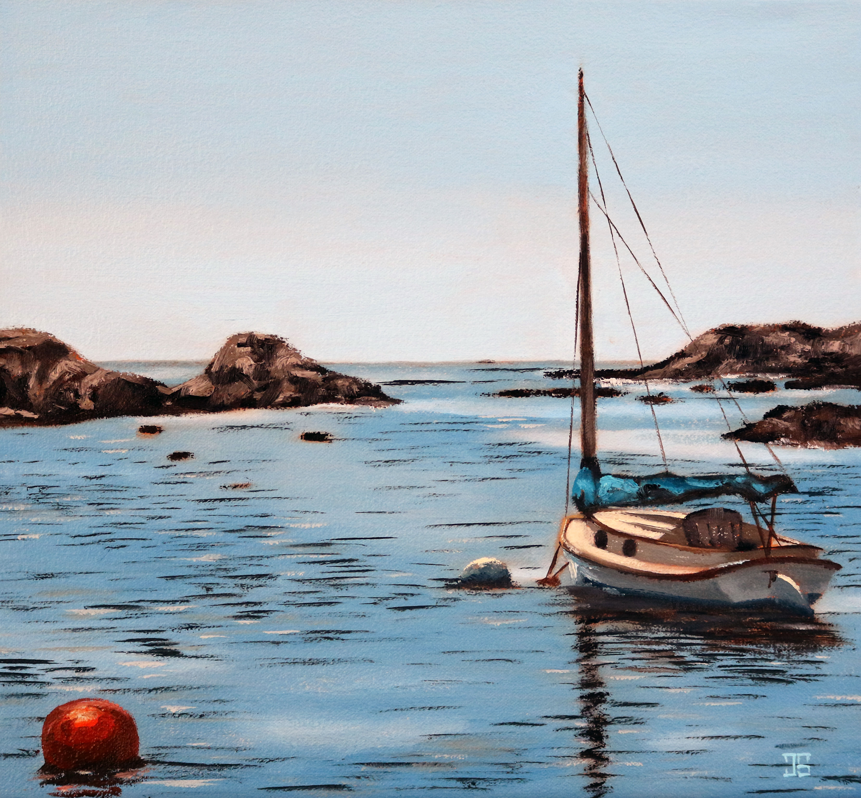 Newport Sailboat by Jeffrey Dale Starr